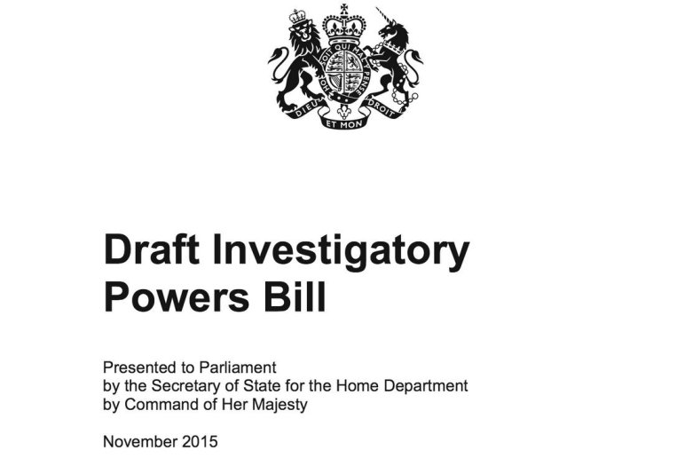 Cover of Draft Investigatory Powers Bill report